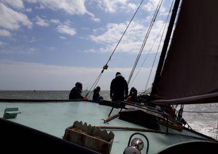 zeilkamp op het IJsselmeer of de Waddenzee