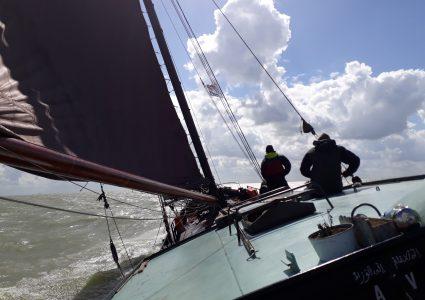 zeilclinic op het IJsselmeer of de Waddenzee